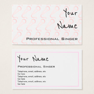 """""""Echoes"""" Professional Singer Business Cards"""