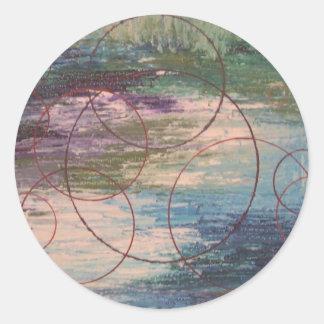 Echoes Round Sticker
