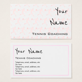 """""""Echoes"""" Tennis Coaching Business Cards"""