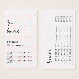 """""""Echoes"""" Tennis Coaching Price Cards"""