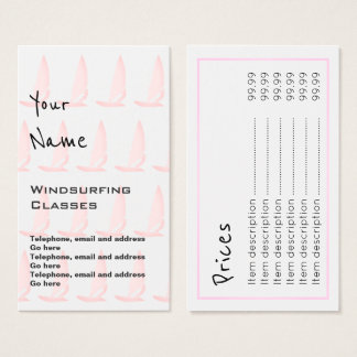 """Echoes"" Windsurfer Price Cards"
