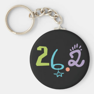 Eclectic 26.2 Marathon Basic Round Button Key Ring