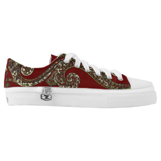 Eclectic Paisley Boho Gems Low Tops