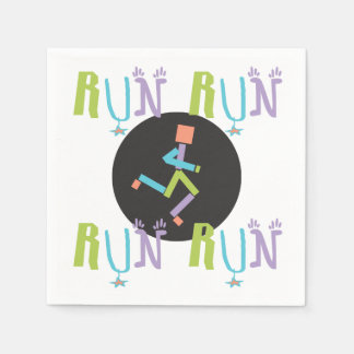Eclectic RUN Runner Colorful Paper Napkins Disposable Napkin
