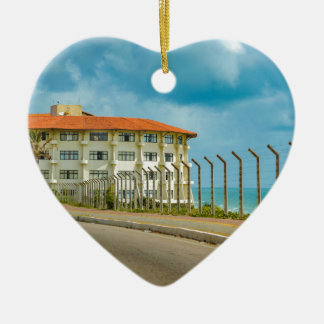 Eclectic Style Building Natal Brazil Ceramic Ornament