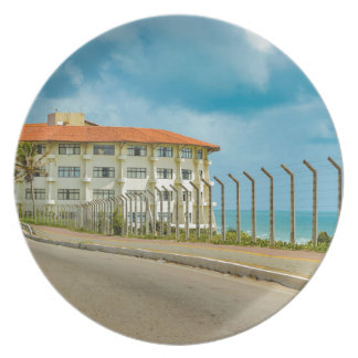 Eclectic Style Building Natal Brazil Dinner Plates