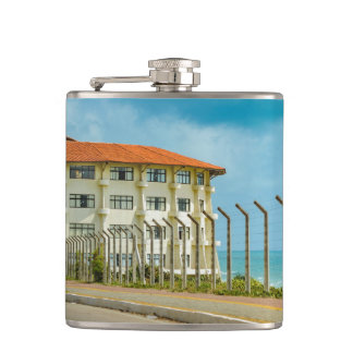 Eclectic Style Building Natal Brazil Hip Flask
