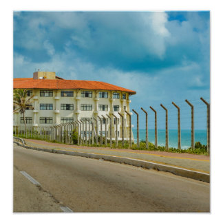 Eclectic Style Building Natal Brazil Poster