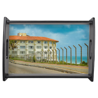 Eclectic Style Building Natal Brazil Serving Tray