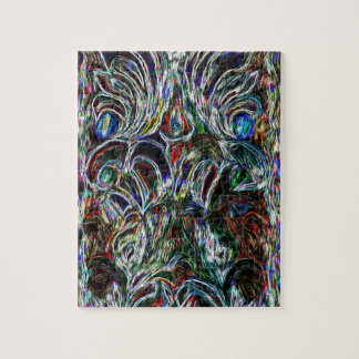 Eclectic Vintage Stained Glass Jigsaw Puzzle