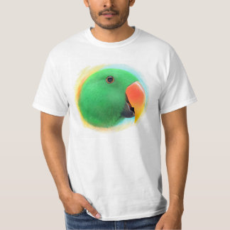 Eclectus parrot realistic painting tee shirt