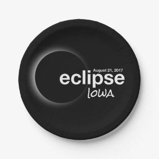 eclipse 2017 Iowa Paper Plate
