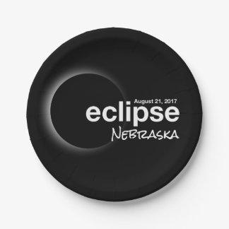 eclipse 2017 Nebraska Paper Plate