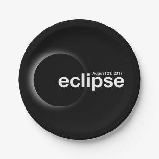 eclipse 2017 paper plate