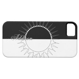 Eclipse Black & White Custom Name Template Case For The iPhone 5