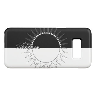Eclipse Black & White Custom Name Template Case-Mate Samsung Galaxy S8 Case