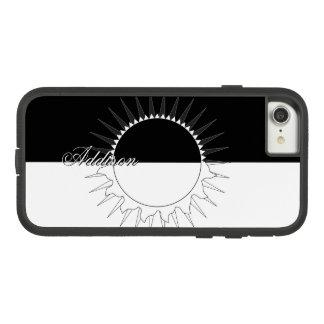 Eclipse Black & White Custom Name Template Case-Mate Tough Extreme iPhone 8/7 Case