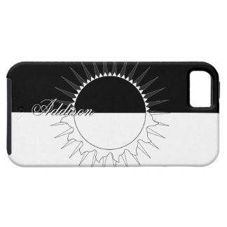 Eclipse Black & White Custom Name Template iPhone 5 Cover