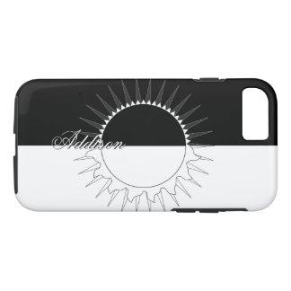 Eclipse Black & White Custom Name Template iPhone 8/7 Case