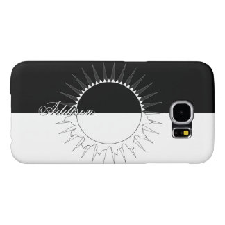 Eclipse Black & White Custom Name Template Samsung Galaxy S6 Cases