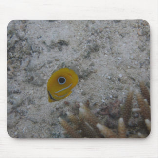 Eclipse Butterfly Fish Mouse Pad