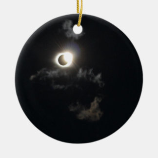 eclipse ceramic ornament