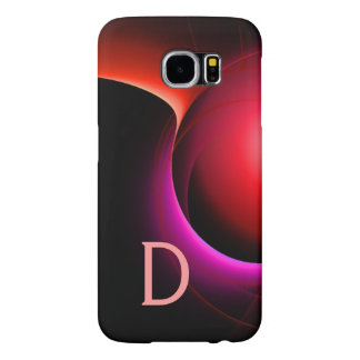 ECLIPSE MONOGRAM Black Pink Purple Red Swirls Samsung Galaxy S6 Cases