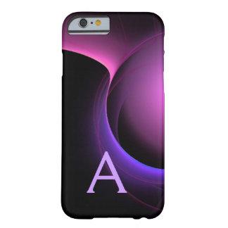 ECLIPSE MONOGRAM Vibrant black purple Barely There iPhone 6 Case