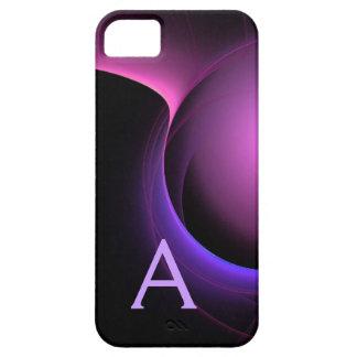 ECLIPSE MONOGRAM Vibrant black purple iPhone 5 Cover