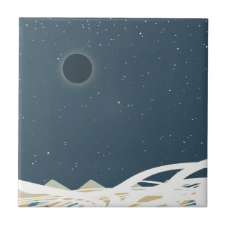 """Eclipse of Sun Art with """"Snakes"""" Ceramic Tile"""