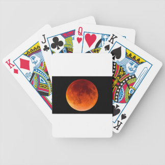 Eclipse of the Blood Moon Bicycle Playing Cards