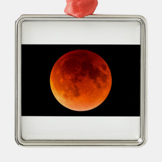 Eclipse of the Blood Moon Metal Ornament