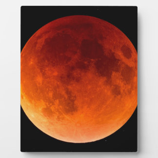 Eclipse of the Blood Moon Photo Plaques