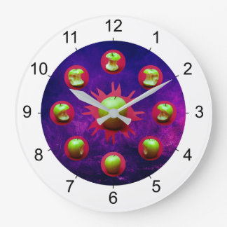 Eclipse Of The Green Star Large Clock