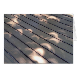 Eclipse Pattern on Wood Greeting Card