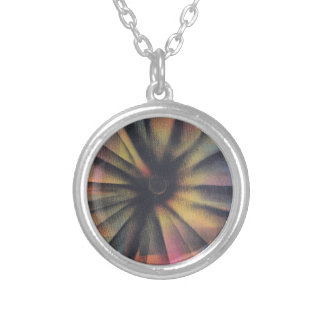 Eclipsing Silver Plated Necklace