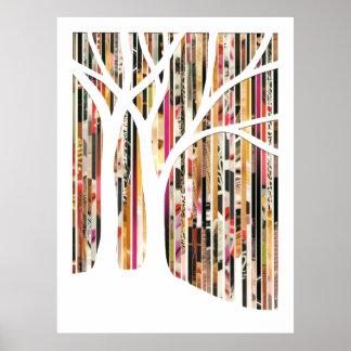 Eco Art Tree Mixed Media Print