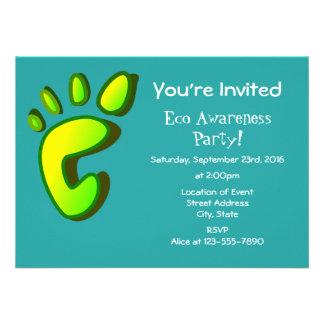 Eco Awareness Party 11 Cm X 16 Cm Invitation Card