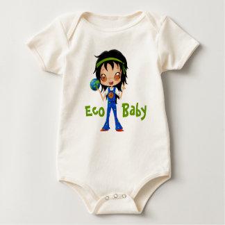 Eco Baby Hippie Girl Peace Earth Baby Bodysuits