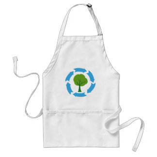 Eco Banner With Green Tree Standard Apron