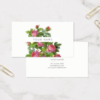 Eco Botanic Greenery Green Roses Flowers Business Card