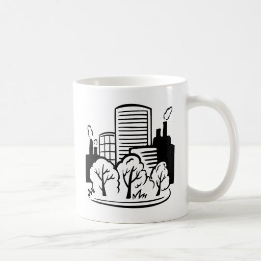 Eco buildings environment mugs