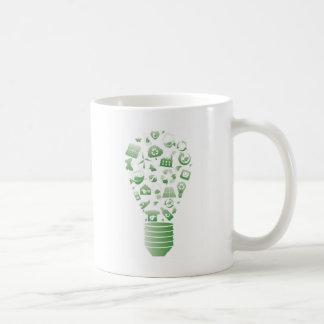 eco bulb basic white mug
