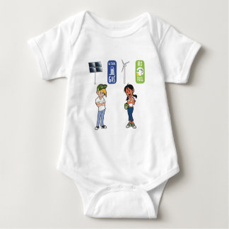 Eco Cal & Eco Betty - Renewable Energy Baby Bodysuit