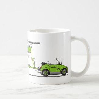 Eco Car Sail Boat Green Mugs