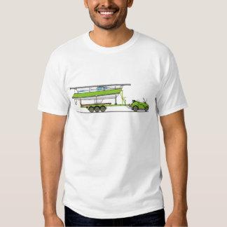 Eco Car Sail Boat Green Tees