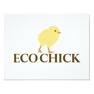 ECO CHICK 11 CM X 14 CM INVITATION CARD