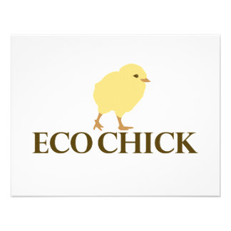 ECO CHICK PERSONALIZED INVITATION