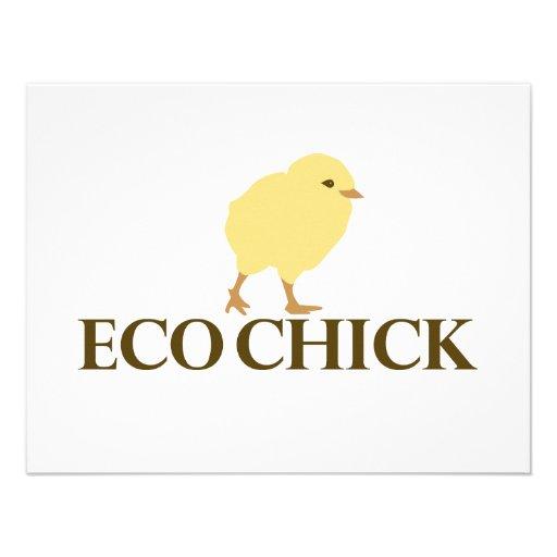 ECO CHICK PERSONALIZED INVITATION