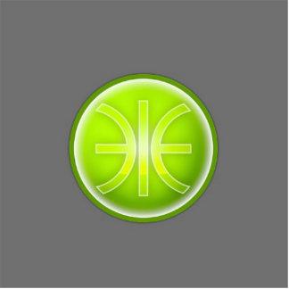 eco era logo photo sculpture badge